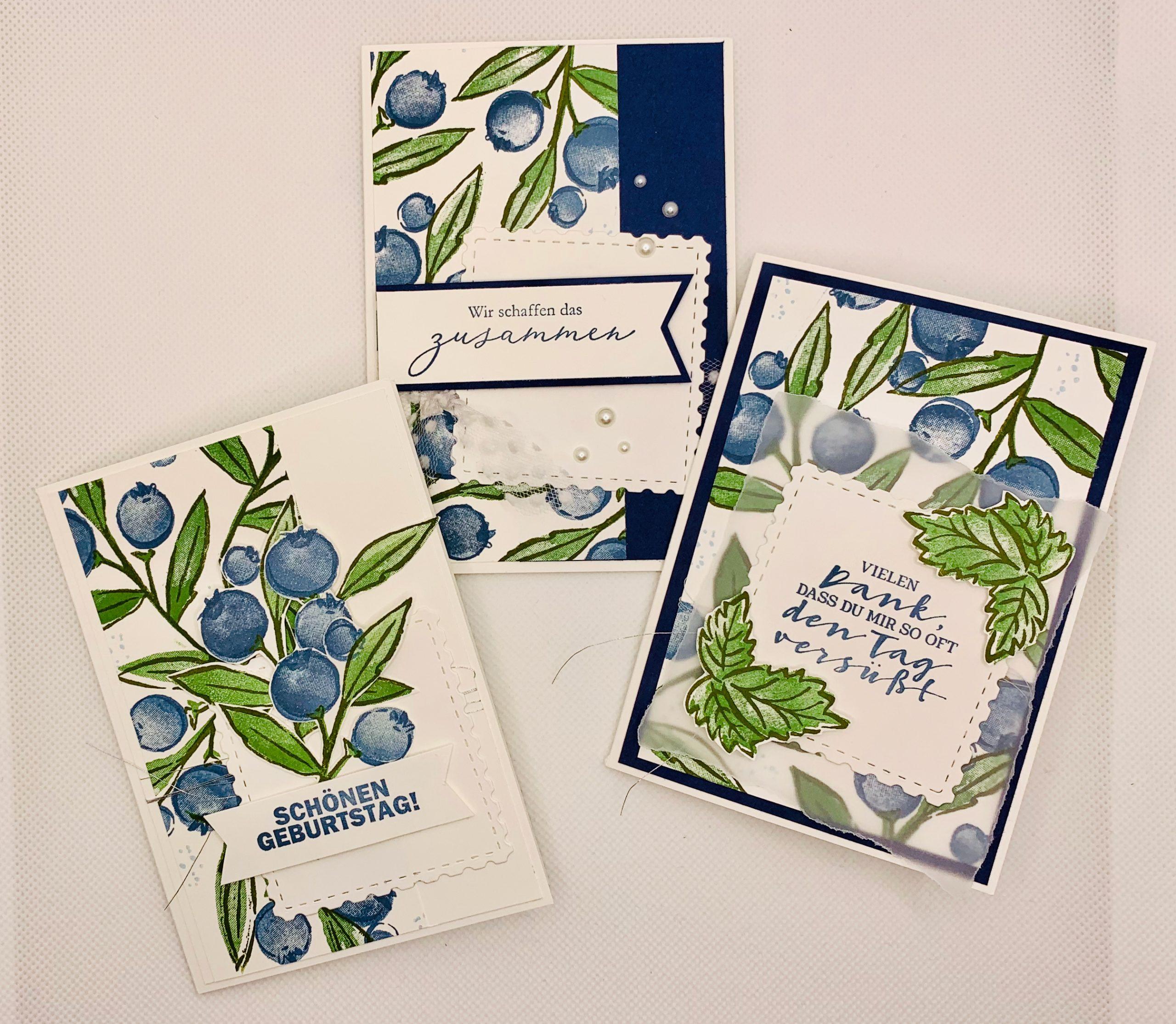 """Sale-A-Bration-Woche:                      Karten mit dem Stempelset """"Fruchtige Grüsse"""""""