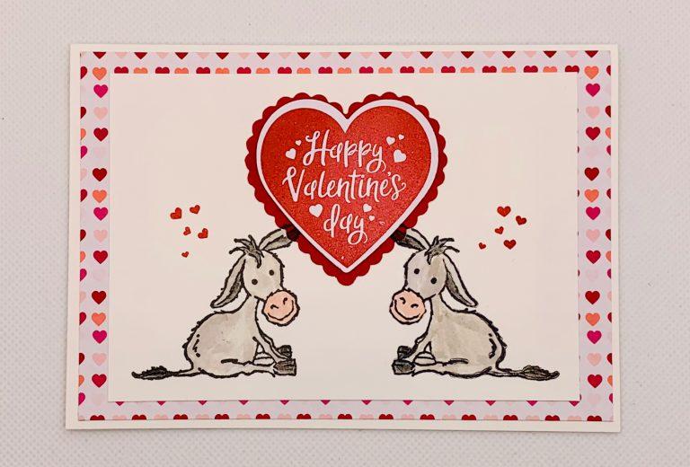Valentinstag-Woche:                      Valentinstagskarte und Tipp zum spiegeln von Stempeln
