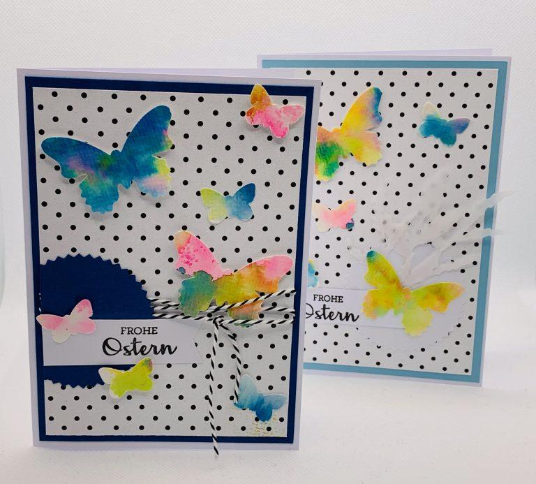 Oster- und Frühlingswoche: Bunte Schmetterlingskarten