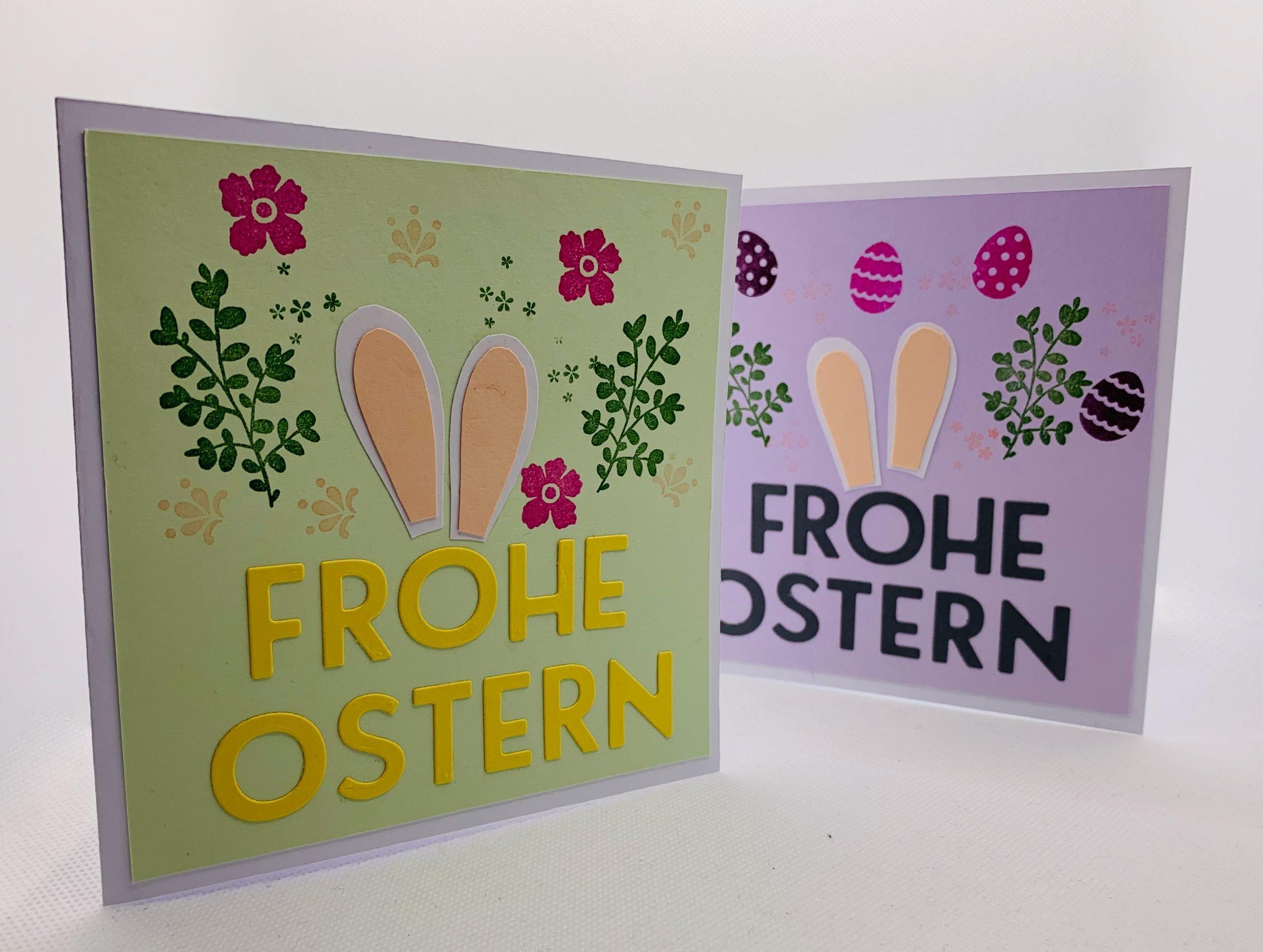 Oster- und Frühlingswoche: Hasenkarten