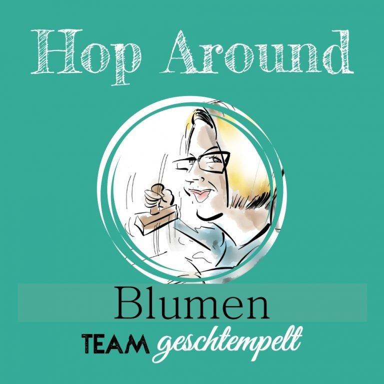 """Blog-Hop Team """"Geschtempelt"""" zum Thema Blumen"""